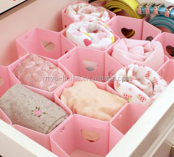 High quality drawer divider organizer / plastic storage drawer divider / adjustable drawer dividers