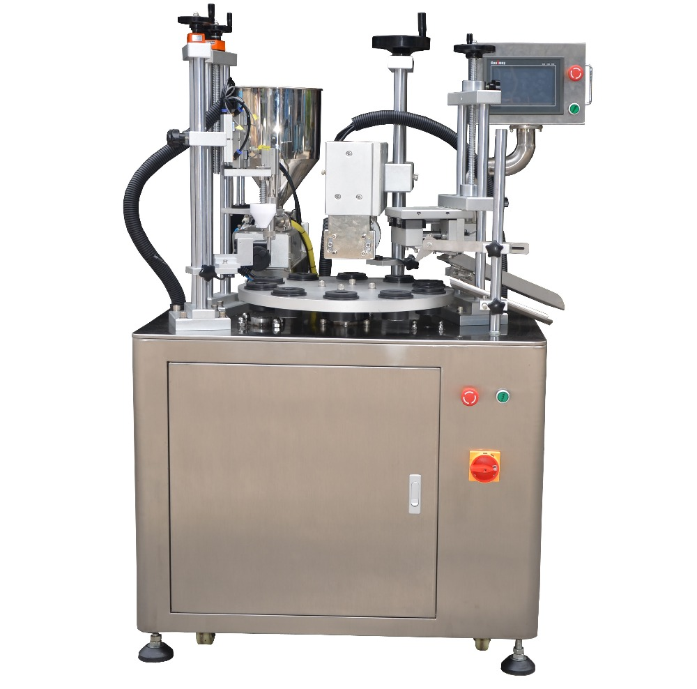 Ultrasonic plastic tube filling sealing machine for lip Balm Packing Soft Tube HX
