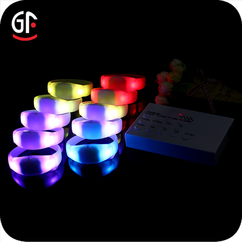 Novelty Products For Import LED Remote Controlled Zoning 7 Groups/Zones Glow In Dark Wristband