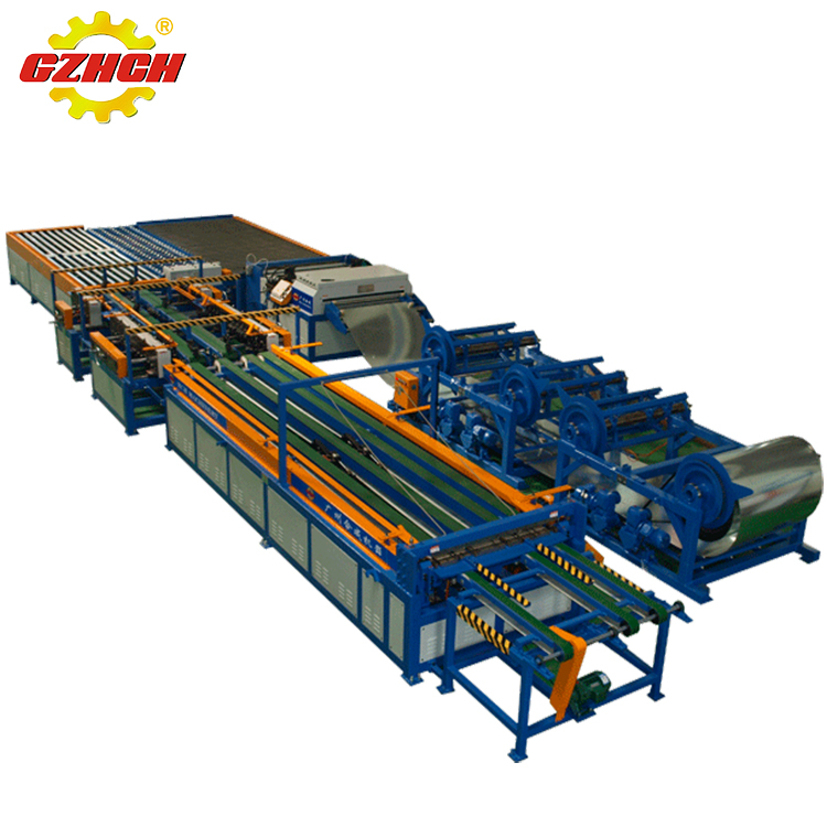 Square metal hvac air duct making machine / duct production line VII for sale