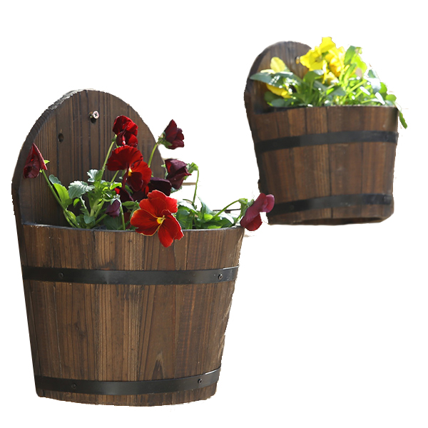 Wall Hanging Flower Pots hanging half pots, hanging half pots suppliers and manufacturers