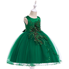 Best Selling Kids Readymade Garments Breathable Cotton Party Wear Evening Dresses for Girls L5060