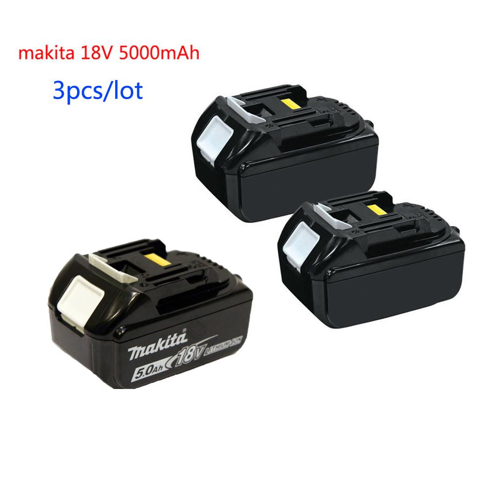 3 pack makita bl1850 18v battery lxt 5 0ah li ion for. Black Bedroom Furniture Sets. Home Design Ideas