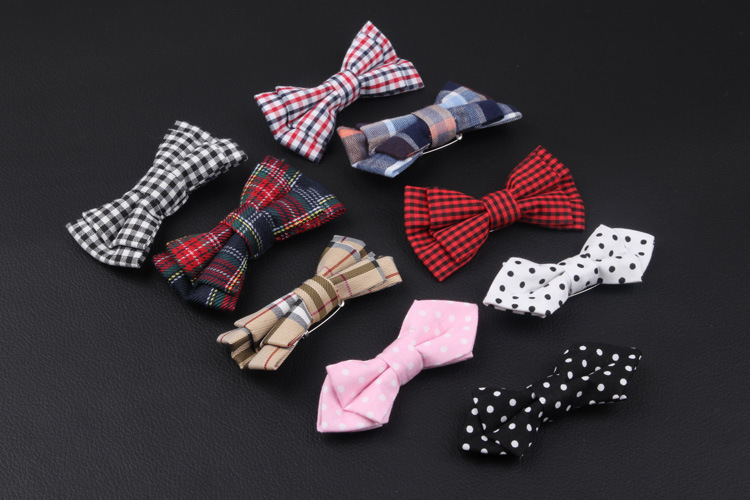 Fashion Cute Child bow ties Student Ties classic British style Grid children Necktie Collar Clothes 10