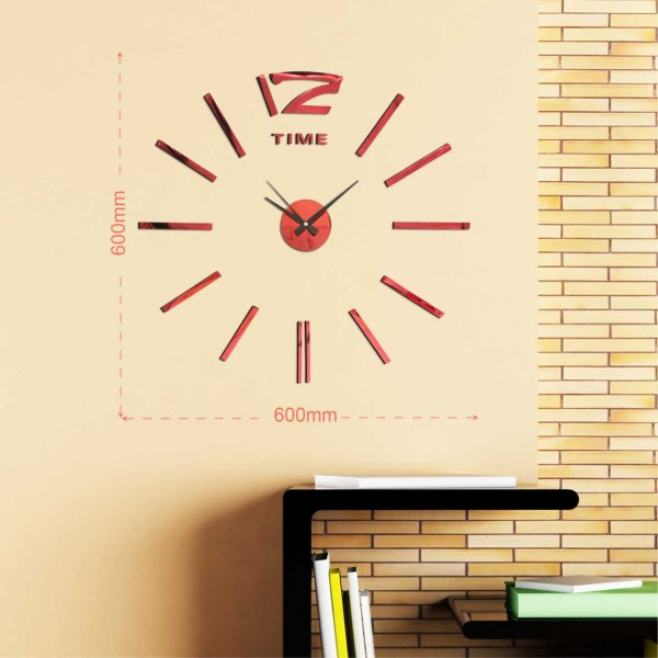 New style Quartz Analog 3D Large wall clock for home decoration