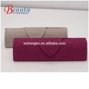 Beautiful slim hemp eyewear case factory custom glasses case