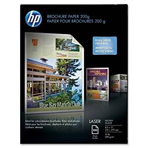 "Wholesale CASE of 10 - HP Color Laser Glossy Photo & Imaging Paper-Laser Brochure Paper,Glossy,58 No,97,8-1/2""x11"",100SH/PK,WE"