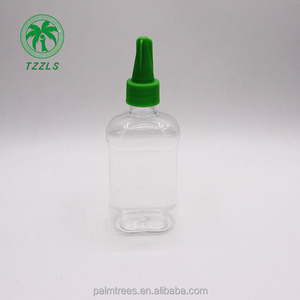 factory high quality 100ml pet colour ink glue sand draw sharp spout small plastic bottle
