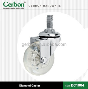 clear color screw threaded skateboard caster
