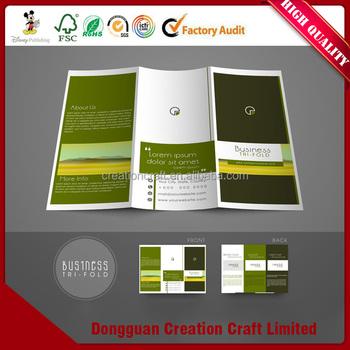 factory direct sale cmyk or pantone color a4 a5 brochure pamphlet