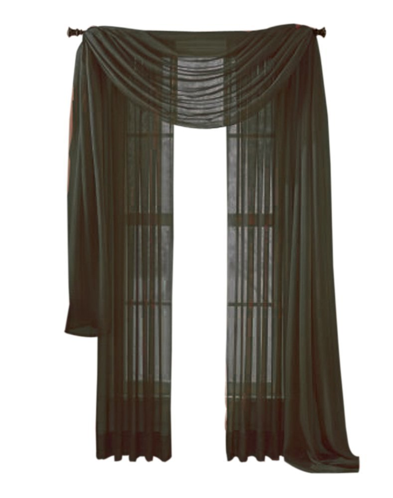 Get Quotations Moshells Home Decorative 84 Sheer Curtain Panel Olive