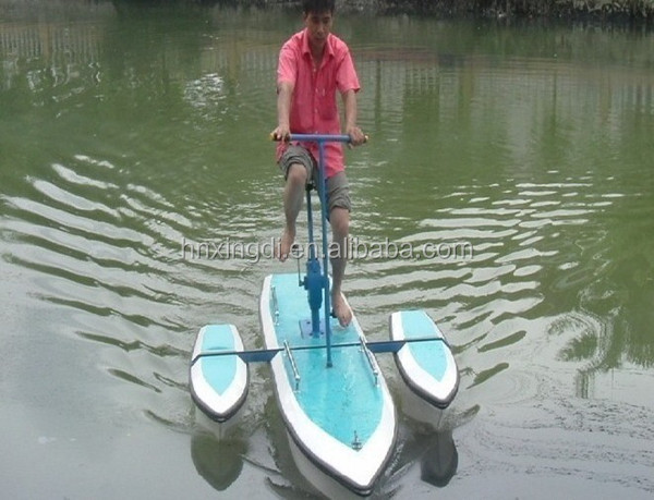 fashionable water park ride adult water bike double seats bicycle pedal boat professional manufacturer