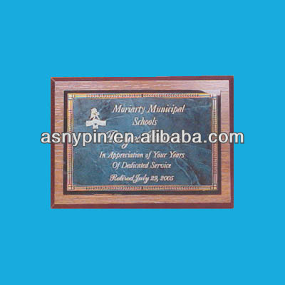 school wooden frame with engrave plates, university engrave name awards trophy
