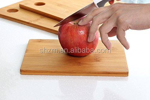 100% Natural Kitchen Wood Chopping Boards Bamboo 3 Set Piece Cutting Board Kitchen Food Chopping Surface Boards