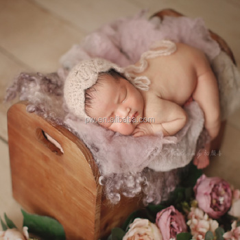 Baby bed newborn photography props vintage digital backdrop wooden baby girl bed photo props