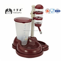 New Plastic Automatic Adjustable Pet Water Food Feeder