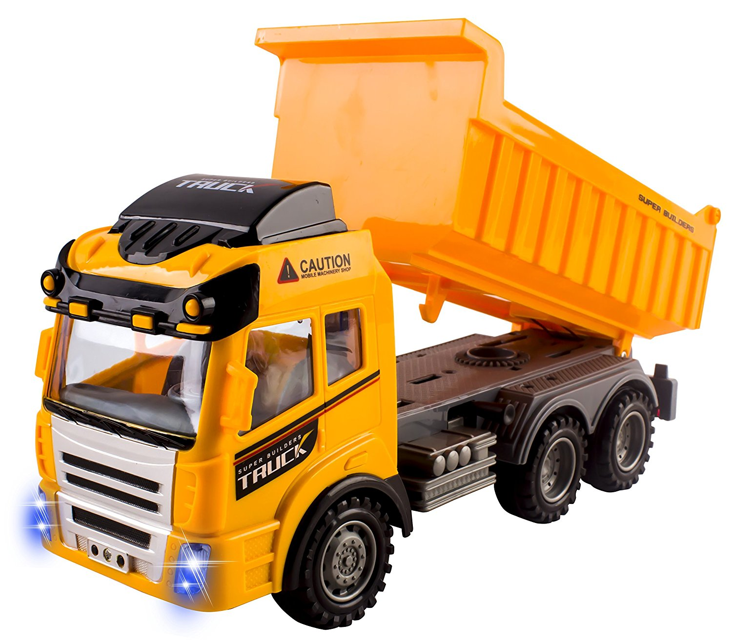 RC Dump Truck Toy Construction Truck Remote Control Truck 4CH Full Function Battery Powered RC Construction Truck Toy