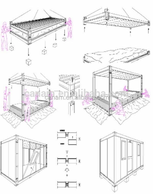 CANAM-prefabricated metal glass house cheap kits for sale