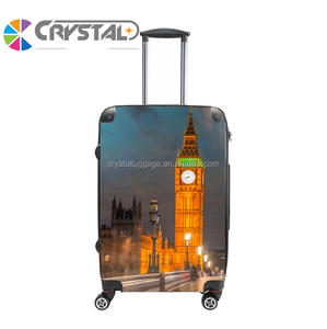 8edefd6a7 Super Clear Light Four Wheels Fashion Design and Colorful Transparent  aluminum metal Trolley Luggage