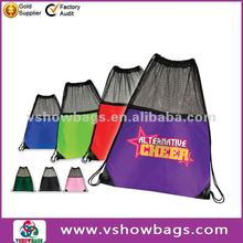 Multi color nylon mesh bags drawstring