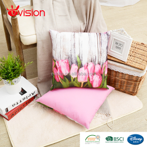 Digital print cushions with filling,tulip design cushion,home decor