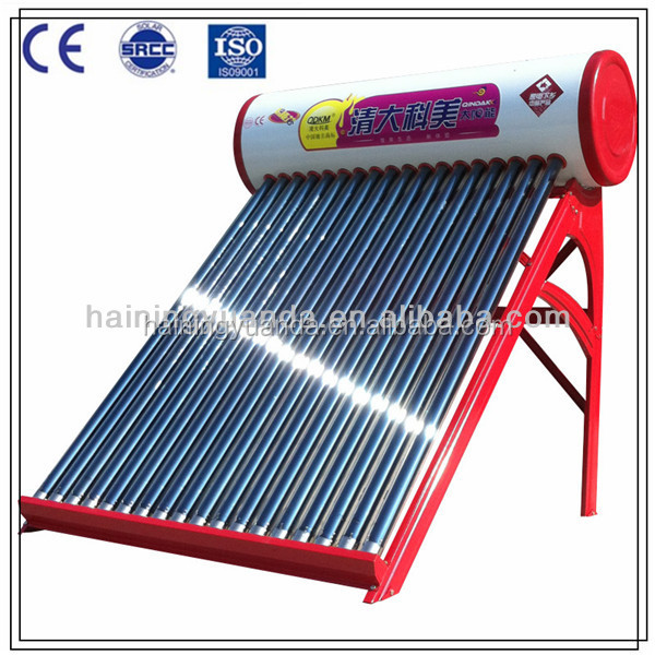 China Manufacturer Non-pressure Solar Hot Water Heater for Home Use