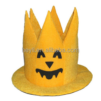 Merchandising Promotional Halloween Cute Witch Hats Crown Shape Design -  Buy Witch Hats Crown Shape Design,Cute Witch Hats,Merchandising Promotional