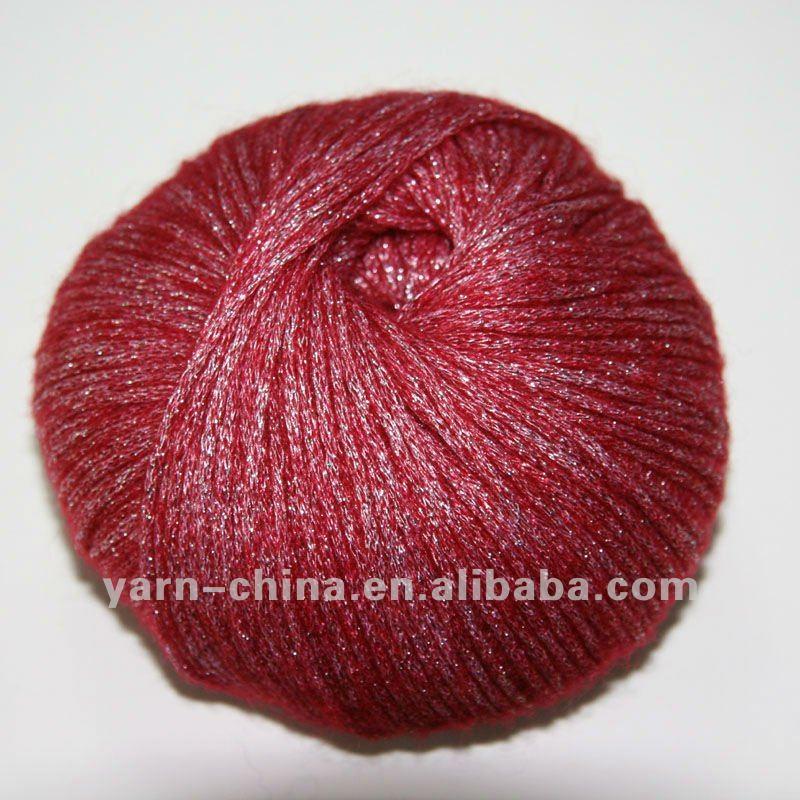 Shiny Yarn Metallic Wool Hand Knitting Yarn