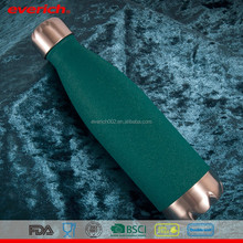 Eco Friendly Double Wall Stainless Steel Water Bottles With New Green Powder Coating