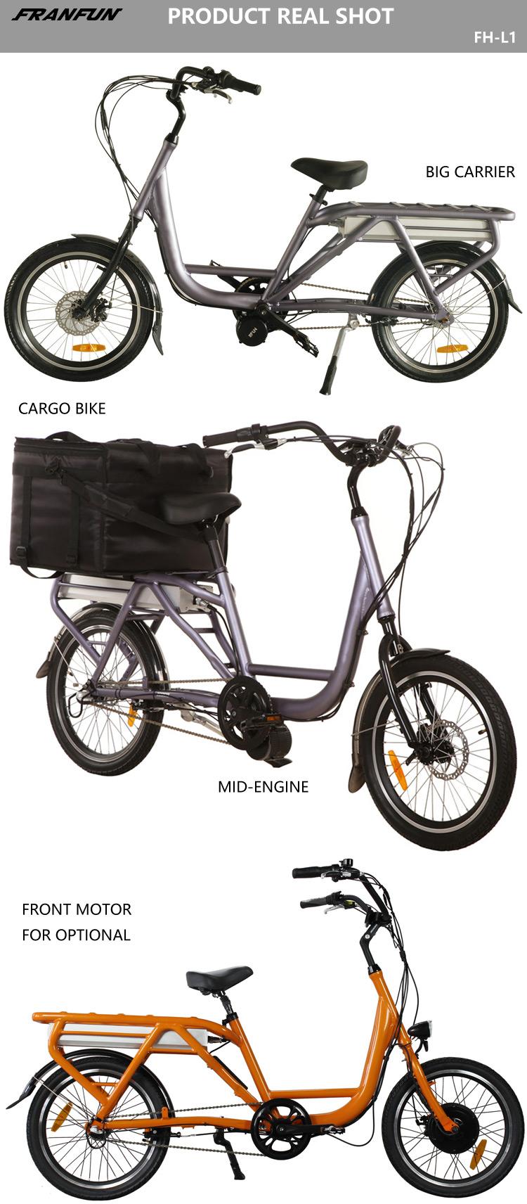 2018 Stylish Mid Drive 500w Food Cargo Bike 20 Inch Cargo Electric Bike -  Buy Electric Bicycle Cargo 500w Food Cargo Bike,Cargo Electric Bike Mid