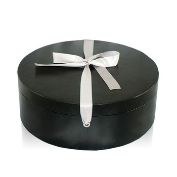 3173a1f9ef4c3 Round Tube Durable Multipurpose Leather Hat Storage Box With Lids ...