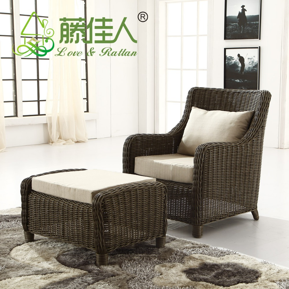 Wholesale Outdoor Coffee Shop Wicker Soft Garden Poly Rattan Soft ...