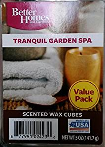Get Quotations · Better Homes And Gardens Value Wax Cubes, Tranquil Garden  Spa