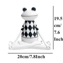 VILEAD 3 вида стилей, полимерные черно-белые полосы, фигурки лягушки для йоги, статуя животных для йоги, милая лягушка, модель для офиса, домашни...(Китай)