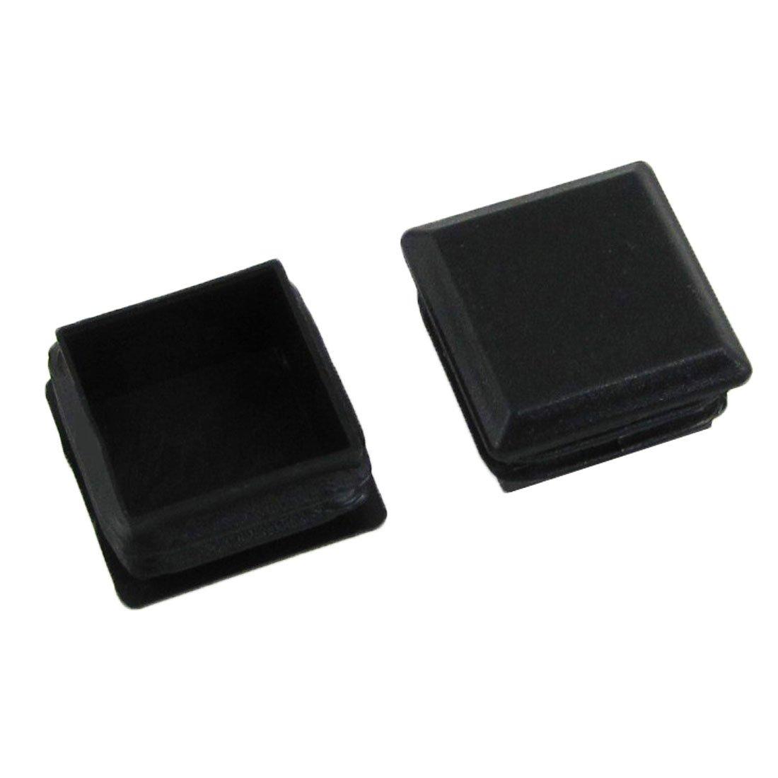 Flyshop Plastic Square Tube Inserts End Blanking Cap 30mm x 30mm 10 Pcs Black