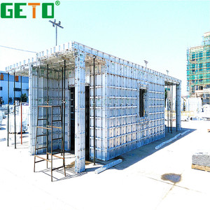 Lower cost high efficiency recycle aluminium abs formwork for concrete built-up steel column