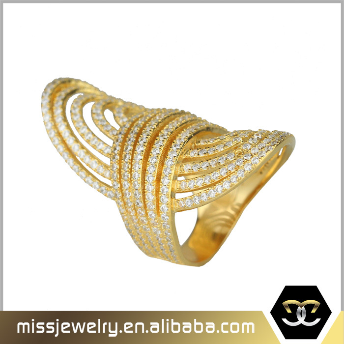 Missjewelry latest 4 gram pure gold finger wedding ring dubai gold