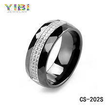 Wholesale Jewelry Set Bali Simply With Zircon silver 925 ring men Ceramic Ring