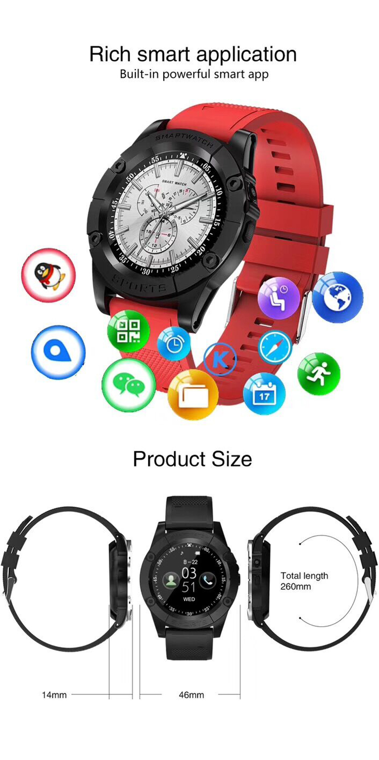 High quality sports wrist android smart watch with camera latest