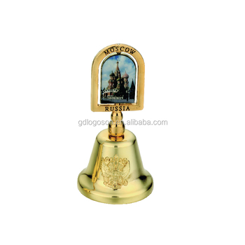 Zhongshan Factory Russia Castle Dinner Bell Golden Decorative Mosco City lLogo Table Bell