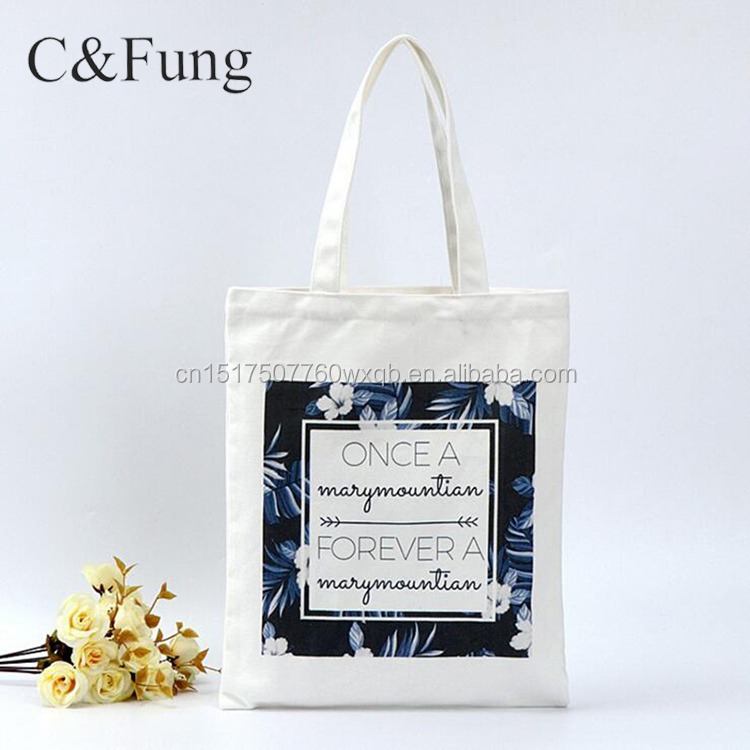 Custom Natural Washable Cotton Fabric Tote Canvas Bag