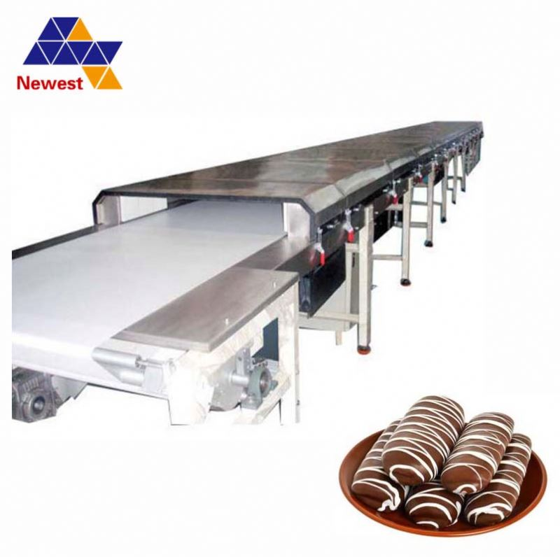 Wholesale cooling tunnel for food/chocolate coating pan with cooling tunnel/juice cooling tunnel