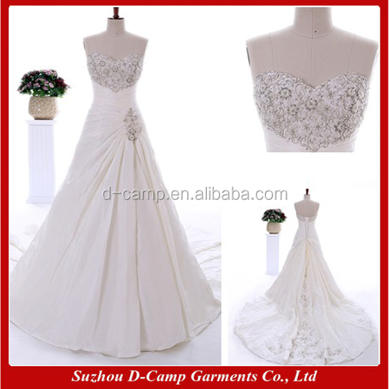 Venta al por mayor vestidos de novia strapless sencillos-Compre ...