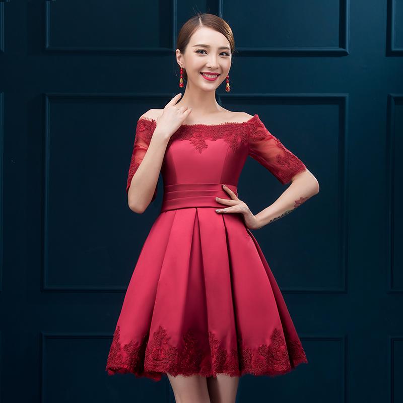e884ef455 vestidos de damas de honor rojos cortos