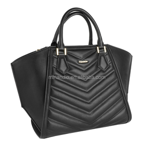 European trendy ladies pu leather handbag tote bag design for wholesale from Guangzhou handbag