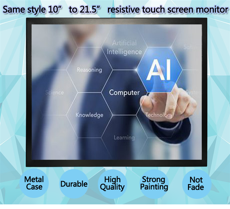 19 21.5 Inch 12V Open Frame Touch Screen Monitor 19-Inch Square 4 3 USB LCD Monitor