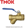 High Quality brass y filter ball valve