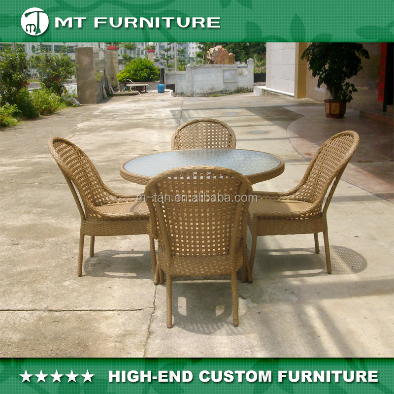 Used Outdoor Kitchens For Sale: 4 Seater Rattan Used Outdoor Furniture For Patio