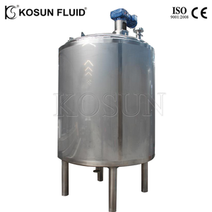 Stainless steel vertical jacketed milk yogurt fermentation tank