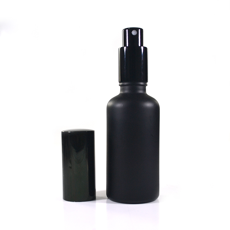 China frosted fancy black white red blue glass perfume fragrance bottle for sale oem decoration